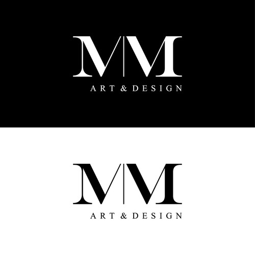 Interior design logo with the title 'M|M Art & Design'