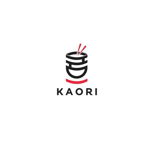 Oriental logo with the title 'Kaori - Poke Restaurant'