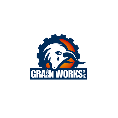 Cow brand with the title 'Grain Works'