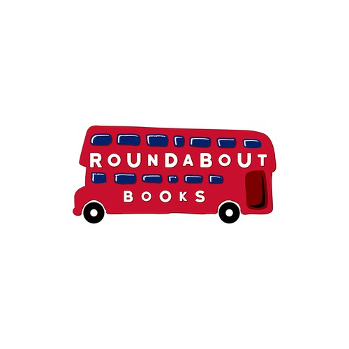 Bookstore logo with the title 'Roundabout Books'
