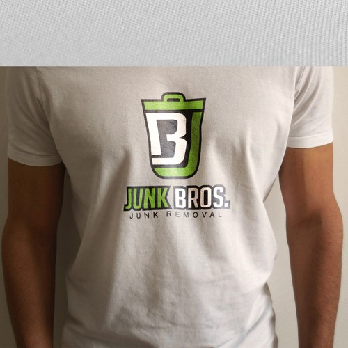 Presentation logo with the title 'Junk Bros'