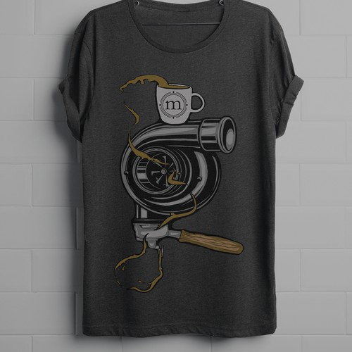 Coffee t-shirt with the title 'Cars and coffee. '