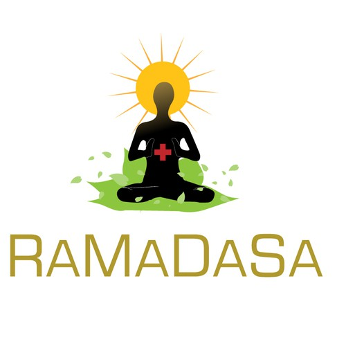 Health and fitness logo with the title 'Kundalini yoga - RaMaDaSa'