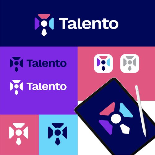 Tie logo with the title 'Talento'