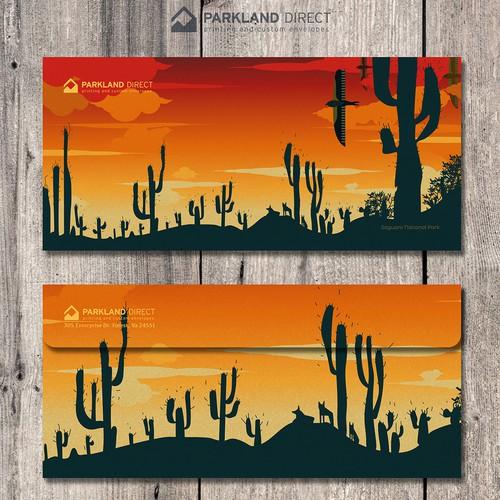 Promotional design with the title 'Parkland Direct Envelope Design'