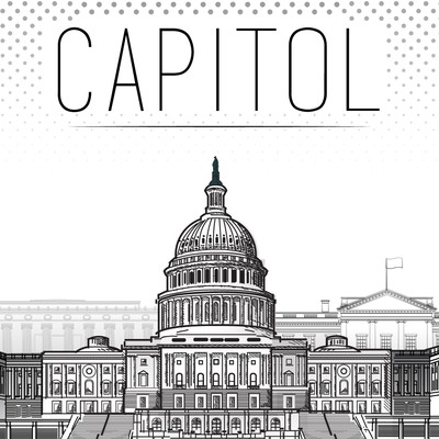 Illustration of Washington DC Landmarks