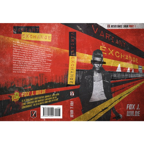 Red design with the title 'Book cover for Variant Exchange'