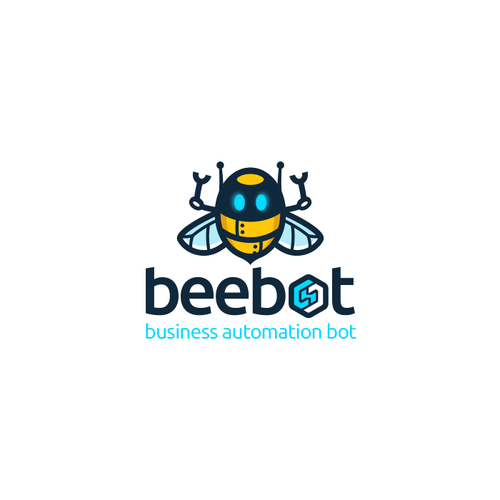 Robot design with the title 'beebot'