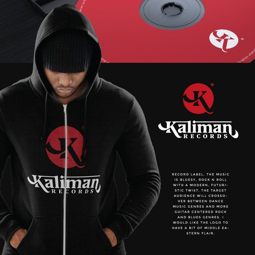 Recording studio logo with the title 'Kaliman Records'