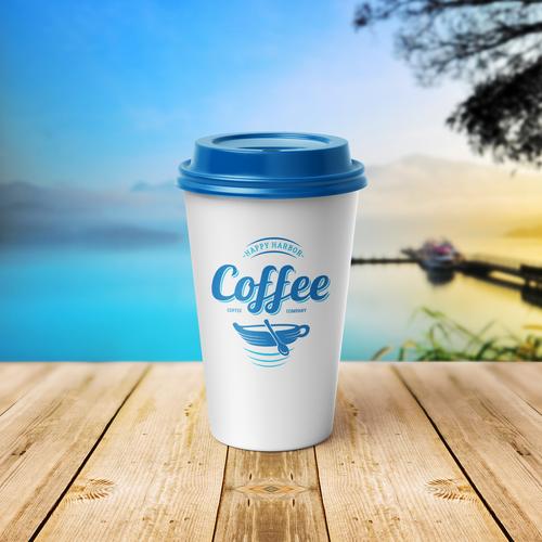 Harbor logo with the title 'Happy Harbor Coffee Company - Logo'