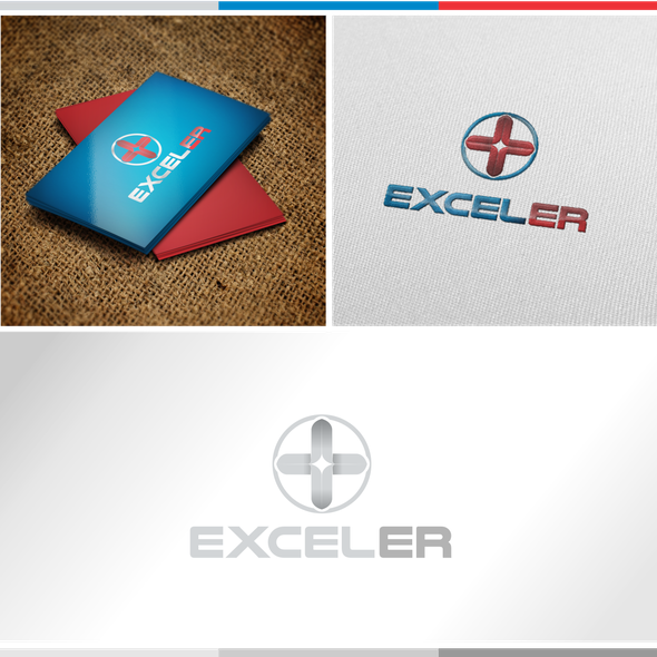 Red cross design with the title '***LOGO NEEDED***EXCEL ER***Freestanding Emergency Room***OPEN 24/7'