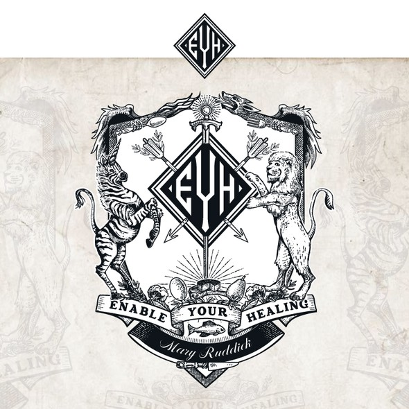 Zebra design with the title 'Coat of arms for EYH'