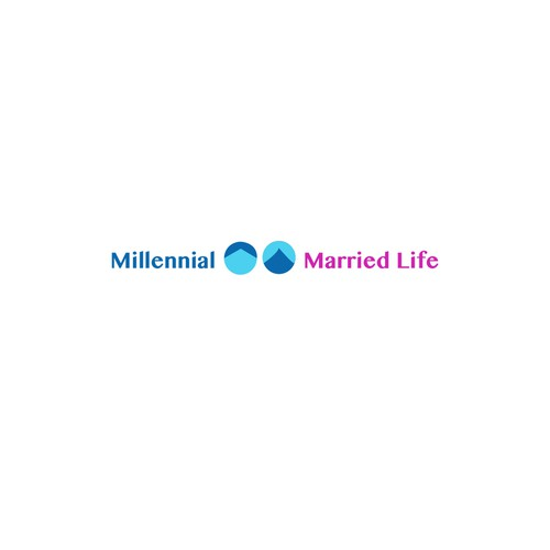 Millennial logo with the title 'Logo design contest entry'