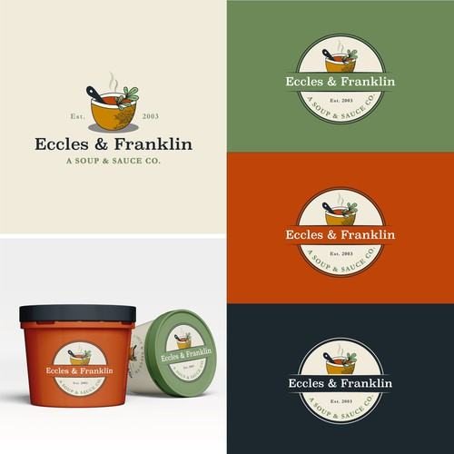 Sauce design with the title 'Eccles & Franklin'