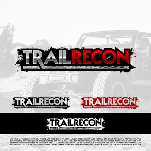 Off-road design with the title 'TRAILRECON'
