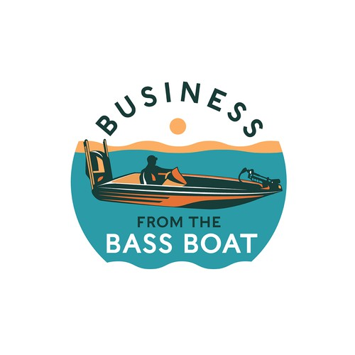 "Boat logo with the title 'Logo for ""Business from the Bass Boat""'"