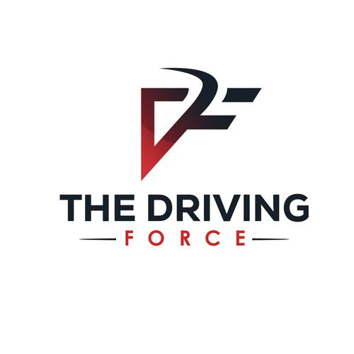 Kick-ass logo with the title 'The Driving Force logo'