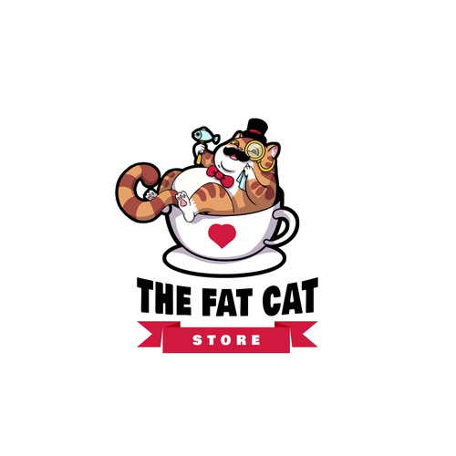 Kitty logo with the title 'Five-star entry for a cat product business'