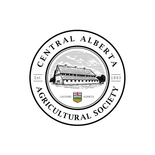 Vintage circle logo with the title 'Vintage logo for Agricultural Society'