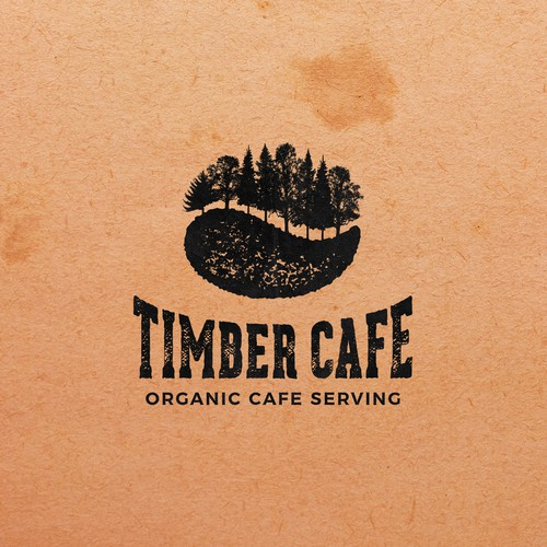Forest logo with the title 'Timber Cafe'