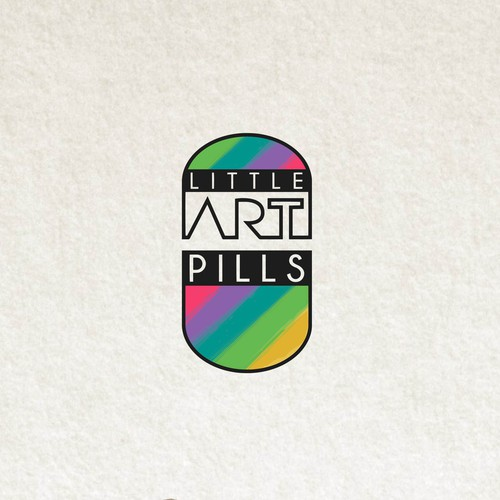 Rainbow logo with the title 'Little Art Pills'