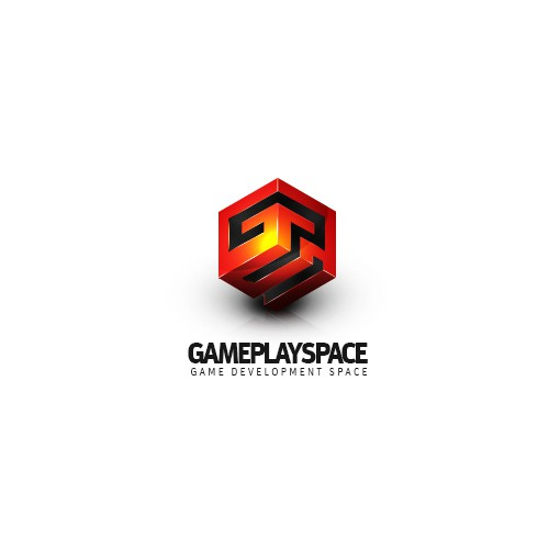 Isometric logo with the title 'GamePlay Space Logo & Universe'