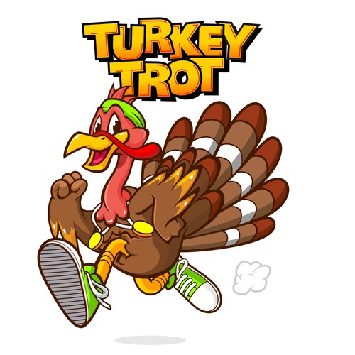 Quail logo with the title 'Turkey Trot'
