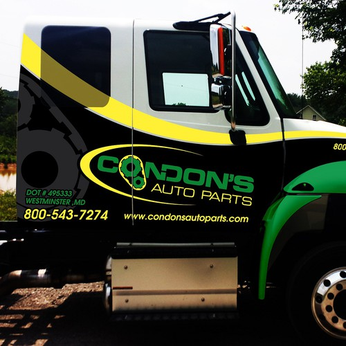 Livery design with the title 'Condons Rollback Wrap Up'