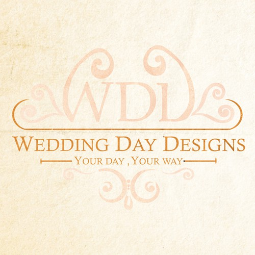 Day logo with the title 'For all you romantics at heart, who likes romance, elegant and vintage? Wedding Day Designs launch'