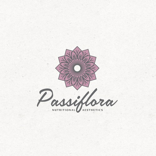 Aesthetic design with the title 'Passiflora Nutritional Aesthetics'