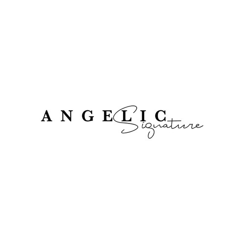 Bespoke logo with the title 'Angelic Signature'