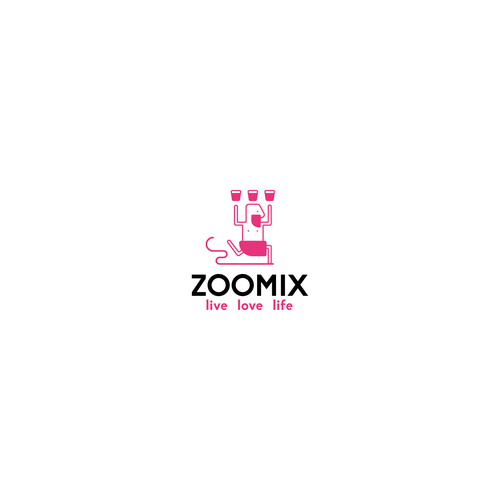 Shake logo with the title 'Character Logo Design'