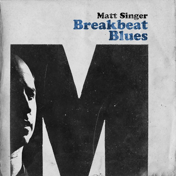 Blues design with the title 'Album cover for Breakbeat Blues'