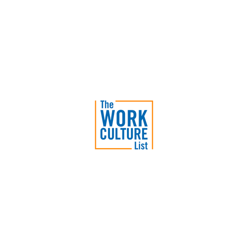 Sans serif logo with the title 'Design a modern Work Culture List logo'