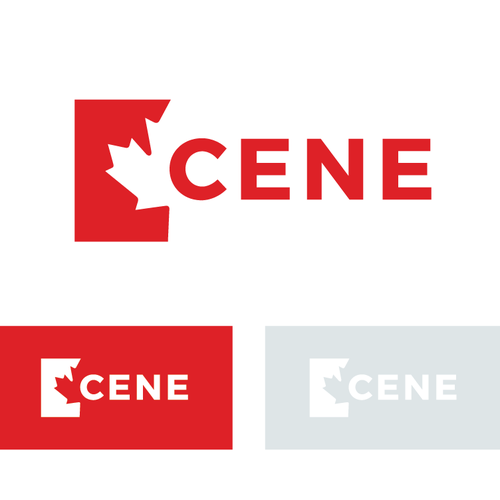 Flag brand with the title 'Cene Logo Design'