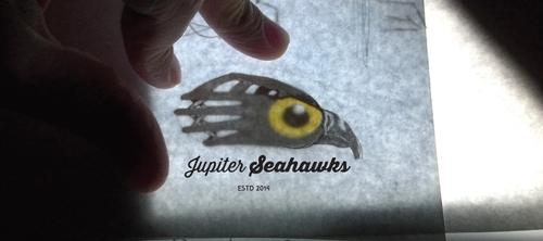 Softball design with the title 'Jupiter Seahawks Logo'