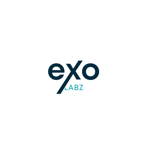 Laboratory logo with the title 'Bold logo for Exo Labz'