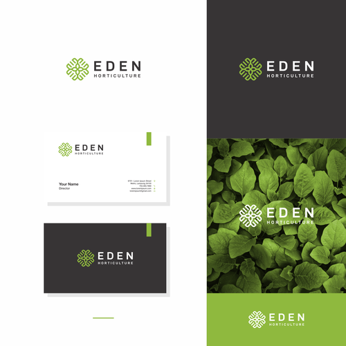 Hydroponics logo with the title 'Eden Horticulture'