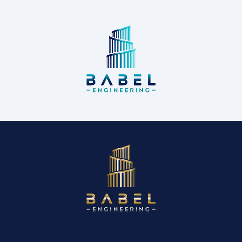 Construction brand with the title 'Babel Engineering Logo Design'