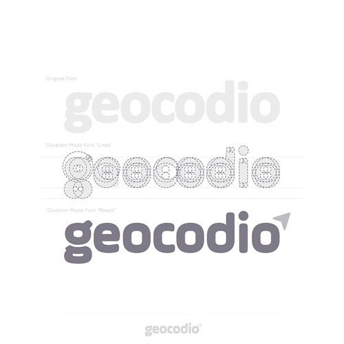 GPS design with the title 'logo design for Geocodio™'