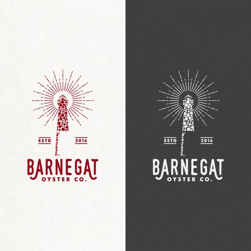 Lighthouse logo with the title 'BARNEGAT OYSTER '