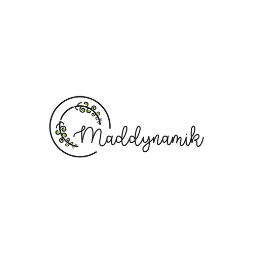 Plate design with the title 'Logo design for Maddynamik'