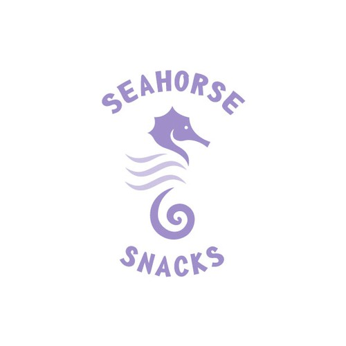Seahorse design with the title 'Seahorse Snack'