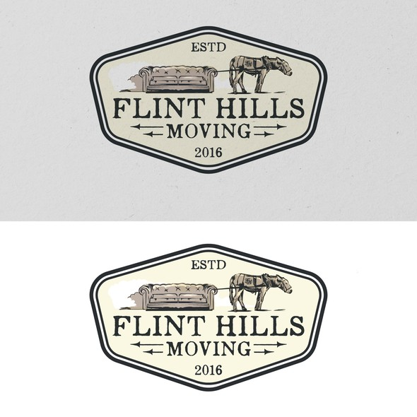Moving company logo with the title 'Flint Hills Moving'
