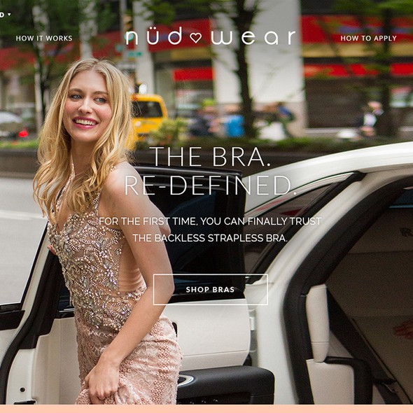 Beautiful website with the title 'Lingerie E-commerce Website - Nudwear'