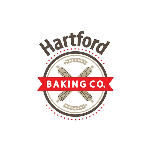 Bakery logo with the title 'Hartford Baking'
