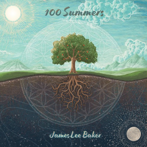 Artwork illustration with the title '100 Summers cover'