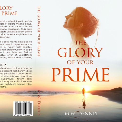 Stylish book cover with the title 'The Glory of your Prime'