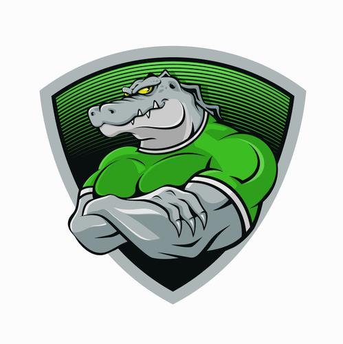 Crocodile design with the title 'Crocodile Logo'