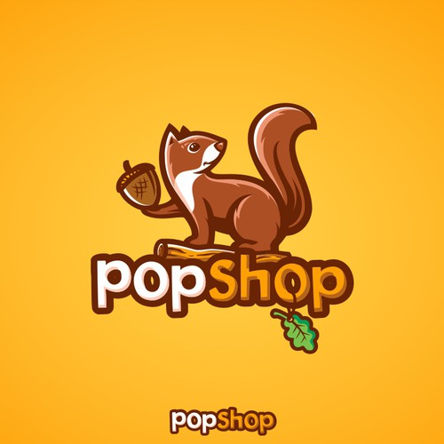 Branch design with the title 'Logo for Pop Culture Shop'